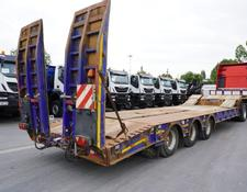 KING low bed semi-trailer GTS60 , 3 axle , 9,30 x 3,35m , stretched , air suspension , 3 X