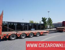 Faymonville low bed semi-trailer STN-4AU , 4 axles , extended , stretched , max 15,80 x 3,23m , h